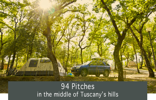 94 Pitches in the middle of Tuscany's hills
